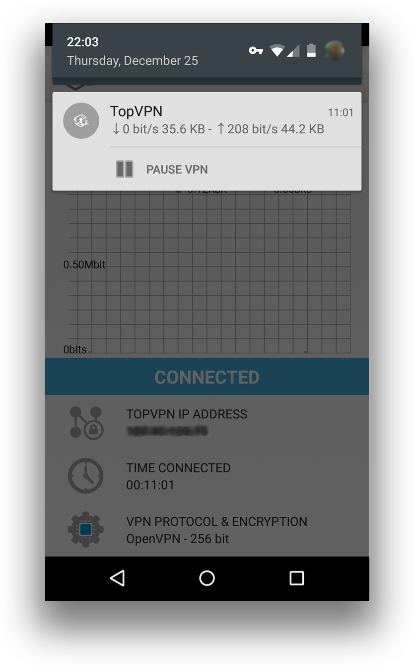 To pause using TopVPN application just open and click Pause VPN.