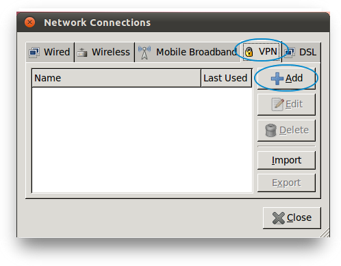 On the Network Connections menu click the